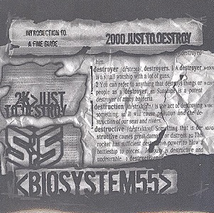 Biosystem55 - 2000.Just.To.Destroy PROMO CD (VG/M-) -nu metal-