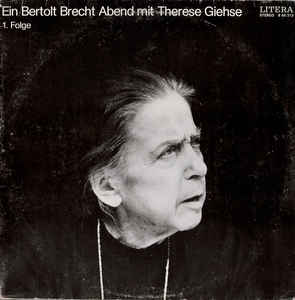 Therese Giehse - Ein Bertolt Brecht Abend Mit Therese Giehse 1. Folge LP (VG+/VG+) -runoja-