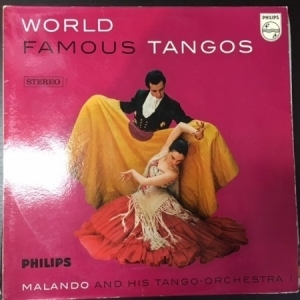 Malando And His Tango-Orchestra - World Famous Tangos LP (VG+/VG+) -tango-