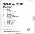 Brooke Valentine - Chain Letter PROMO CD (avaamaton) -r&b-