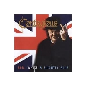 Contagious - Red, White & Slightly Blue CDEP (M-/M-) -hard rock-