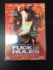 Fuck The Rules DVD (VG+/M-) -draama-
