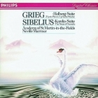 Grieg / Sibelius - Holberg Suite & 2 Lyric Pieces / Karelia Suite & The Swan Of Tuonela CD (VG+/VG+) -klassinen-