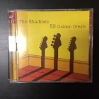 Shadows - 50 Golden Greats 2CD (VG-VG+/M-) -rautalanka-