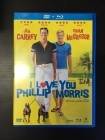 I Love You Phillip Morris DVD+Blu-ray (VG+-M-/M-) -komedia-
