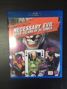 Necessary Evil - Super-Villains Of DC Comics Blu-ray (M-/M-) -dokumentti-