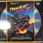 Prom Night III - The Last Kiss LaserDisc (VG+/VG+) -kauhu-
