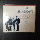 Shadows - The Story CD+CD-ROM (VG+-M-/VG+) -rautalanka-