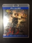 Resident Evil - Afterlife Blu-ray 3D (M-/M-) -toiminta/sci-fi-