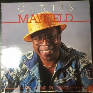 Curtis Mayfield - We Come In Peace LP (VG/VG) -soul-