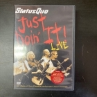 Status Quo - Just Doin' It Live DVD (VG/M-) -hard rock-