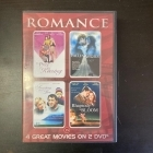 Romance (The Price Of Kissing / Fallen Angels / Something About Love / Rhapsody In Bloom) 2DVD (VG+/M-) -draama-