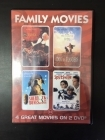 Family Movies (The Story Lady / A Dog Of Flanders / Sherlock Bones / Splitsville) 2DVD (VG/M-) -draama-