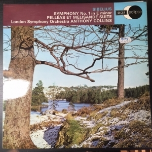 Sibelius - Symphony No.1 In E Minor / Pelleas Et Melisande Suite LP (VG+-M-/VG+) -klassinen-