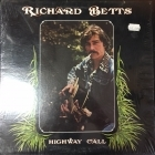 Richard Betts - Highway Call LP (VG+-M-/VG+) -country rock-