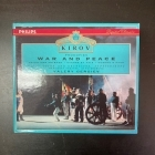 Prokofiev - War And Peace 3CD (M-/VG+) -klassinen-