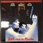 Death And The Maiden LaserDisc (VG-VG+/M-) -jännitys/draama-