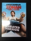 Zohan - Lupa saksia (unrated version) DVD (VG+/M-) -komedia-