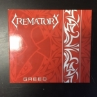 Crematory - Greed CDS (VG+/VG+) -gothic metal-