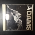 Bryan Adams - Live! Live! Live! CD (G/VG+) -pop rock-