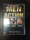 Men Of Action - Tough Guy Edition Vol.III (K.O.V.A. / Red Scorpion / Family Of Cops) 3DVD (M-/M-) -toiminta/jännitys-