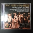 Great Voices Of The Opera II - Unforgotten Voices Vol.3 2CD (VG+/M-) -klassinen-