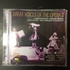 Great Voices Of The Opera II - Alfred Piccaver / Leonard Warren / Hans Hotter / Willi Domgraf-Fassbaender 2CD (VG+-M-/M-) -klassinen-
