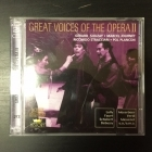 Great Voices Of The Opera II - Gerard Souzay / Marcel Journet / Riccardo Stracciari / Pol Plancon 2CD (M-/M-) -klassinen-