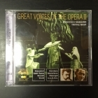 Great Voices Of The Opera II - Francesco Tamagno / Heddle Nash 2CD (M-/M-) -klassinen-