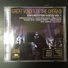 Great Voices Of The Opera II - Unforgotten Voices Vol.1 2CD (M-/M-) -klassinen-