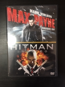 Max Payne (harder cut) / Hitman (unrated) 2DVD (M-/M-) -toiminta-