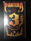 Pantera - 3 Watch It Go VHS (VG+/VG+) -groove metal-