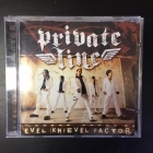 Private Line - Evel Knievel Factor CD (G/M-) -hard rock-