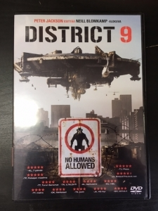District 9 DVD (M-/M-) -toiminta/sci-fi-