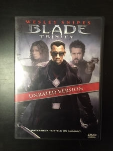 Blade Trinity (unrated version) DVD (VG+/M-) -toiminta-