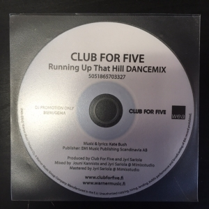 Club For Five - Running Up That Hill (Dancemix) PROMO CDS (VG+/-) -dance-