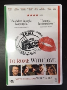 To Rome With Love DVD (VG+/M-) -komedia-