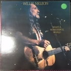 Willie Nelson - What A Wonderful World LP (VG/VG+) -country-