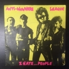 Anti-Nowhere League - I Hate...People 7'' (VG/VG+) -punk rock-