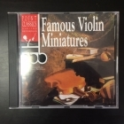 Famous Violin Miniatures CD (VG+/VG+) -klassinen-