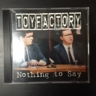 Toyfactory - Nothing To Say CDEP (VG+/M-) -punk rock-