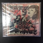 Thee Merry Widows - The Devil's Outlaws CD (avaamaton) -psychobilly-