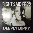 Right Said Fred - Deeply Dippy / Deeply Duppy 7'' (VG-VG+/VG+) -synthpop-