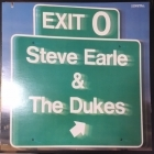 Steve Earle & The Dukes - Exit 0 LP (VG+-M-/VG+) -country rock-
