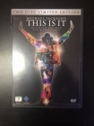Michael Jackson's This Is It (limited edition) 2DVD (VG+-M-/M-) -dokumentti-