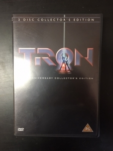 Tron (1982) (20th anniversary collectors edition) 2DVD (VG+/M-) -seikkailu/sci-fi-
