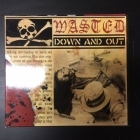 Wasted - Down And Out CD (VG/VG+) -punk rock-