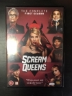 Scream Queens - Kausi 1 4DVD (VG-M-/M-) -tv-sarja-