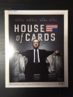 House Of Cards - Kausi 1 (4 disc) Blu-ray (M-/M-) -tv-sarja-