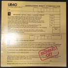 UB40 - Signing Off LP + 12'' SINGLE (VG-M-/VG+) -reggae-